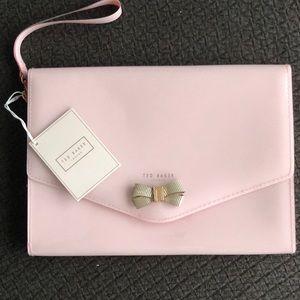 Bow Envelope Clutch - Light Pink